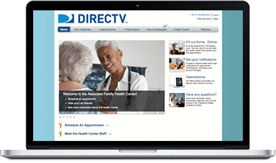 Direct TV Dashboard Take Care Health
